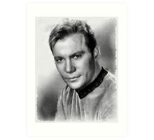 William Shatner by John Springfield Art Print