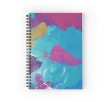 Abstract Painting in magenta and cyan 02/18 Spiral Notebook