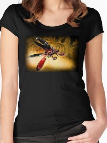 Bug on a Windscreen Women's Fitted Scoop T-Shirt