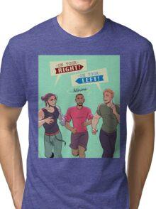 Y'ALL DON'T MAKE ME UNLEASH THE FALCON Tri-blend T-Shirt