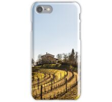 Vineyard in early spring iPhone Case/Skin