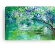 Green River Oil Painting Hand Painted Art Wall Decor by Artist Ekaterina Chernova Canvas Print