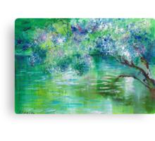 Green River Oil Painting Hand Painted Art Wall Decor by Artist Ekaterina Chernova Canvas Print
