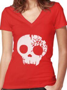Fractured Skull Logo Women's Fitted V-Neck T-Shirt