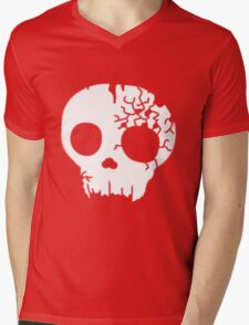 Fractured Skull Logo Mens V-Neck T-Shirt