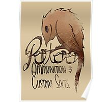 Potoo CO. Ammunition and Custom Salts! Poster