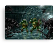 TMNT Vs. Aliens Canvas Print