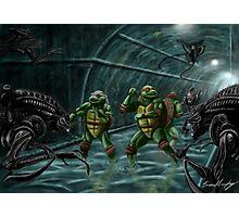 TMNT Vs. Aliens Photographic Print