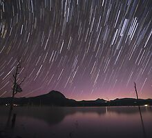 Star Trails Over Lake Moogerah 2 by McguiganVisuals