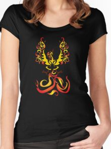 Tribal Moltres Women's Fitted Scoop T-Shirt