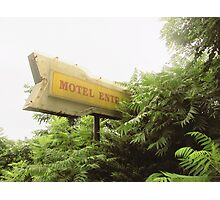 Motel Entrance Photographic Print