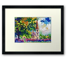 White Church Painting Wall Art by Ekaterina Chernova Framed Print