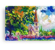 White Church Painting Wall Art by Ekaterina Chernova Canvas Print