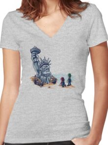 The Planet of the Kong Women's Fitted V-Neck T-Shirt