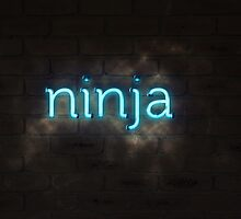 Ninja Neon Light Sign by ninjaSpence