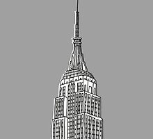 Empire State Building Grey by Amy Walters