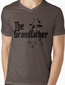 The Grandfather - Mafia Movie Spoof Mens V-Neck T-Shirt