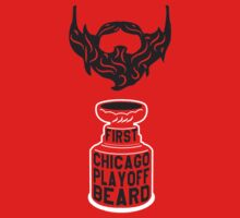 First CHICAGO Playoff Beard Kids Tee