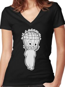 The Unfriendly Ghost Women's Fitted V-Neck T-Shirt
