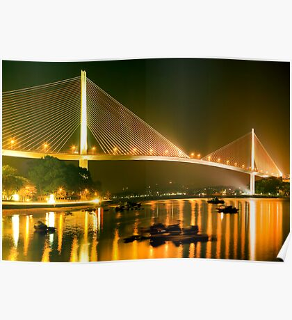 cable stayed bridge Poster