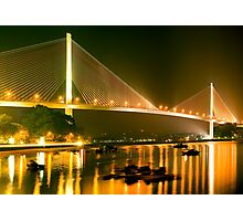 cable stayed bridge Photographic Print