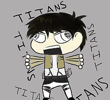 Raging Chibi Eren Attack on Titan Phone Case by TheOCDninja