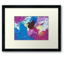 Abstract Painting in magenta and blue 04/18 Framed Print