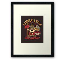 Little Leo's Pizza Framed Print