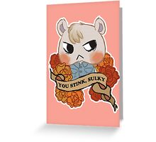 Rude Villagers: Marshal Greeting Card