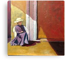 Sherry on the Porch Canvas Print