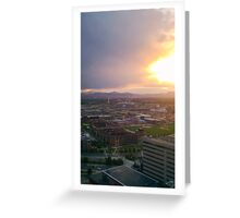 Sunset over the Front Range. Greeting Card
