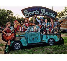 Welcome to South Austin, Trailer Food Park on S. 1st Photographic Print