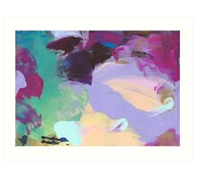 Abstract Painting in mauve and peach 05/18 Art Print