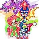 Chibi Gotham Girls by Penelope Barbalios
