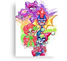 Chibi Gotham Girls Canvas Print