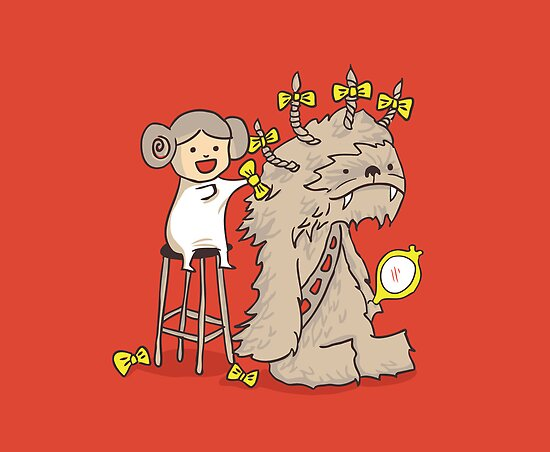 Wookie is a wonderful friend by Budi Satria Kwan