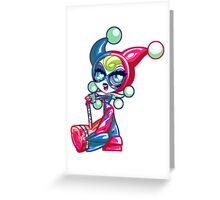 Chibi Harley Quinn Greeting Card