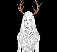 Stag Girl by gyossaith