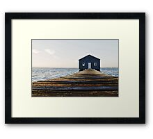 Crawley Edge Boat Shed Perth Framed Print