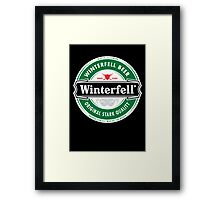 Winterfell Beer - Brewed for All Men of The North Framed Print