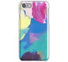 Abstract Painting in turquoise and mauve 08/18 iPhone Case/Skin