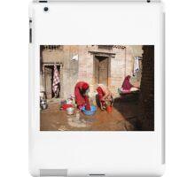 Hair Washing in Nepal iPad Case/Skin