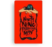 Ninety-Nine Righteous Men Cover Canvas Print