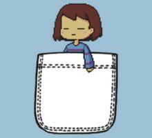 Frisk in the Pocket (v2) - Undertale One Piece - Short Sleeve