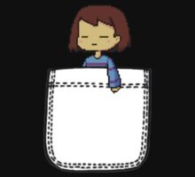 Frisk in the Pocket (v2) - Undertale Baby Tee