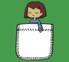 Frisk in the Pocket (v2) - Undertale One Piece - Short Sleeve
