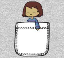 Frisk in the Pocket (v2) - Undertale Kids Tee