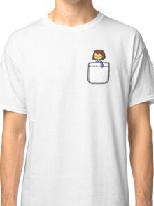 Frisk in the Pocket (v2) - Undertale Classic T-Shirt