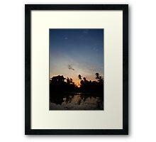 A Balinese Sunset  Framed Print