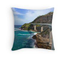 Sea Cliff Bridge Throw Pillow